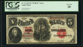 "Large Size:Legal Tender Notes, Fr. 91 $5 1907 ""PCBLIC"" Error Legal Tender PCGS Very Fine 20.. ..."