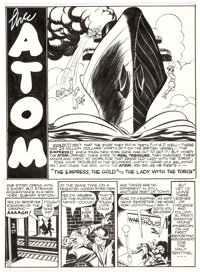 """All-American Comics Unpublished Complete 6-Page Story """"The Empress, The Gold, and The Lady With The Torch"""" The..."""