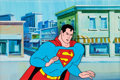 Animation Art:Production Cel, The New Adventures of Superman Production Cel and PaintedBackground (Filmation, 1966)....