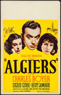 "Movie Posters:Adventure, Algiers (United Artists, 1938). Window Card (14"" X 22""). Adventure.. ..."