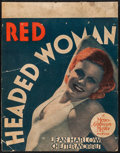 """Movie Posters:Drama, Red Headed Woman (MGM, 1932). Trimmed Window Card (14"""" X 18""""). Comedy.. ..."""
