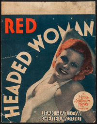 """Red Headed Woman (MGM, 1932). Trimmed Window Card (14"""" X 18""""). Comedy"""
