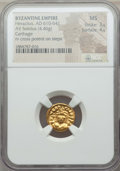 Ancients:Byzantine, Ancients: Heraclius (AD 610-641). AV solidus (4.46 gm). NGC MS 3/5- 4/5....
