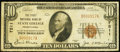 National Bank Notes:Pennsylvania, State College, PA - $10 1929 Ty. 1 The First NB Ch. # 7511. ...