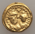 Ancients:Byzantine, Ancients: Heraclius (AD 610-641) and Heraclius Constantine (AD613-641). AV solidus (4.51 gm). About XF....