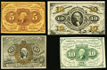 Fractional Currency:First Issue, First, Second, and Third Issue Fractionals.. ... (Total: 4 notes)