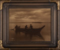 Photographs, Edward Sheriff Curtis (American, 1868-1952). Homeward, 1898. Orotone in original frame with original paper label affixed...