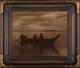 Edward Sheriff Curtis (American, 1868-1952) Homeward, 1898 Orotone in original frame with original paper label affixed...
