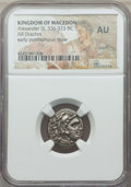 Ancients:Greek, Ancients: MACEDONIAN KINGDOM. Alexander III the Great (336-323 BC).AR drachm. NGC AU, scuff....