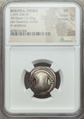 Ancients:Greek, Ancients: BOEOTIA. Thebes. Ca. 395-338 BC. AR stater (12.05 gm).NGC XF 5/5 - 3/5. ...