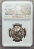 Ancients:Greek, Ancients: MACEDONIAN KINGDOM. Alexander III the Great (336-323 BC).AR tetradrachm (17.00 gm). NGC Choice XF 4/5 - 3/5....