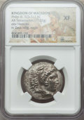 Ancients:Greek, Ancients: MACEDONIAN KINGDOM. Philip III Arrhidaeus (323-317 BC).AR tetradrachm (17.02 gm). NGC XF....