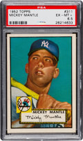 Baseball Cards:Singles (1950-1959), 1952 Topps Mickey Mantle #311 PSA EX-MT+ 6.5.. ...