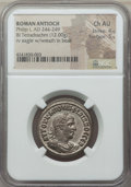 Ancients:Roman Provincial , Ancients: SYRIA. Antioch. Philip I (AD 244-249). BI tetradrachm(12.00 gm). NGC Choice AU 4/5 - 5/5. ...