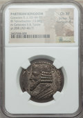 Ancients:Greek, Ancients: PARTHIAN KINGDOM. Gotarzes II (ca. AD 44-51). BItetradrachm (13.88 gm). NGC Choice XF 5/5 - 4/5....
