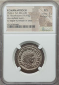 Ancients:Roman Provincial , Ancients: SYRIA. Antioch. Philip I (AD 244-249). BI tetradrachm(14.95 gm). NGC MS 5/5 - 5/5. ...