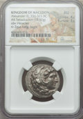 Ancients:Greek, Ancients: MACEDONIAN KINGDOM. Alexander III the Great (336-323 BC).AR tetradrachm (16.92 gm). NGC AU 4/5 - 3/5....