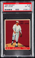 Baseball Cards:Singles (1930-1939), 1933 Goudey Red Lucas #137 PSA EX-MT 6....