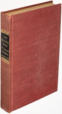 W. Somerset Maugham. The Razor's Edge. Garden City: 1944. First edition, limited to 750 copies