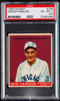 Baseball Cards:Singles (1930-1939), 1933 Goudey Woody English #135 PSA EX-MT+ 6.5....