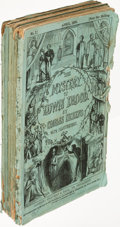 "Books:Literature Pre-1900, Charles Dickens. The Mystery of Edwin Drood. London: 1870.First edition, in parts, lacking the ""Cork Hat"" ad...."