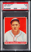 Baseball Cards:Singles (1930-1939), 1933 Goudey Ray Kolp #150 PSA NM 7....