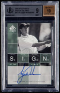 Golf Cards:General, 2002 SP Authentic Sign of The Times Tiger Woods #ST-TW BGS Mint 9, Beckett 10 Autograph. ...
