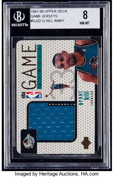 1997 Upper Deck Game Jerseys Grant Hill Gj22 Bgs Nm Mt 8 Lot