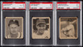 Baseball Cards:Lots, 1948 Bowman Baseball PSA Graded Trio (3) - Elliott, Reiser & Slaughter....