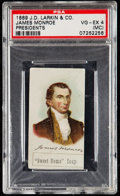 Non-Sport Cards:Singles (Pre-1950), 1889 J.D. Larkin & Co. James Monroe PSA VG-EX 4 (MC). . ...