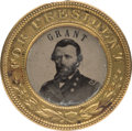 Political:Ferrotypes / Photo Badges (pre-1896), Ulysses S. Grant: Unlisted Back-to-Back Ferrotype. ...