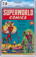 Golden Age (1938-1955):Science Fiction, Superworld Comics #1 (Hugo Gernsback, 1940) CGC FN/VF 7.0 Cream tooff-white pages....