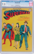 Golden Age (1938-1955):Superhero, Superman #30 (DC, 1944) CGC VF- 7.5 Off-white to white pages....