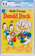Golden Age (1938-1955):Cartoon Character, Donald Duck #42 (Dell, 1955) CGC NM- 9.2 Off-white to whitepages....