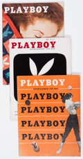 Magazines:Miscellaneous, Playboy Group of 23 (HMH Publishing, 1954-57) Condition: Average VG/FN.... (Total: 23 Items)