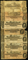 Confederate Notes:1863 Issues, 1863-64 Confederate Notes.. ... (Total: 7 notes)