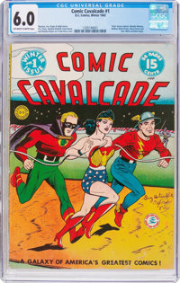 Comic Cavalcade #1 (DC, 1942) CGC FN 6.0 Off-white to white pages