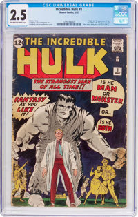 The Incredible Hulk #1 (Marvel, 1962) CGC GD+ 2.5 Off-white to white pages