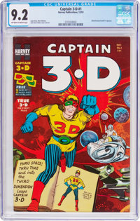 Captain 3-D #1 (Harvey, 1953) CGC NM- 9.2 Off-white to white pages