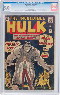 The Incredible Hulk #1 (Marvel, 1962) CGC VG/FN 5.0 Off-white to white pages