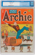 Golden Age (1938-1955):Humor, Archie Comics #1 (MLJ, 1942) CGC GD/VG 3.0 Off-white pages....
