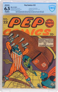 Golden Age (1938-1955):Humor, Pep Comics #22 (MLJ, 1941) CBCS Restored FN+ 6.5 (Moderate/Extensive) Off-white pages....