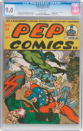 Golden Age (1938-1955):Superhero, Pep Comics #31 (MLJ, 1942) CGC VF/NM 9.0 Off-white pages....