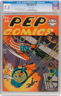 Golden Age (1938-1955):Humor, Pep Comics #24 (MLJ, 1942) CGC VF- 7.5 Off-white pages....