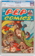 Golden Age (1938-1955):Humor, Pep Comics #34 (MLJ, 1942) CGC FN/VF 7.0 Off-white pages....