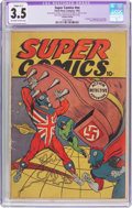 Golden Age (1938-1955):Superhero, Super Comics #nn Canadian Edition (The Citren News Co., 1942) CGC Apparent VG- 3.5 Slight (C-1) Off-white to white pages....