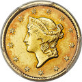 Gold Dollars, 1849-C G$1 Closed Wreath AU53 PCGS. Variety 1....
