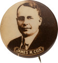 Political:Pinback Buttons (1896-present), James M. Cox: Sepia Real Photo Pin....