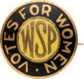 Political:Pinback Buttons (1896-present), Woman's Suffrage: Rare Woman Suffrage Party Enamel Brooch....