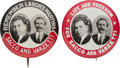 Political:Pinback Buttons (1896-present), Anarchism/U.S. Labor Movement: Both Varieties of the Scarce Sacco & Vanzetti Jugates. ...